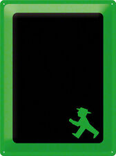 Tin sign Ampelmännchen Chalkboard 30x40 cm green sign GDR retro goers