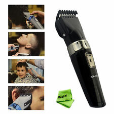 Washable Waterproof Men Rechargeable Cordless Hair Clipper Beard Trimmer Shaver