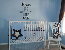 DREAM BIG LITTLE ONE VINYL WALL LETTERING WORDS BABY DECAL BABY NURSERY STICKER