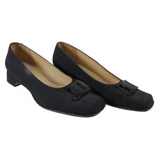Salvatore Ferragamo Ladies Black Slip Ons Lot 380