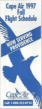 Cape Air Northern system timetable 6/12/97 [6011] (Buy 2 get 1 free)