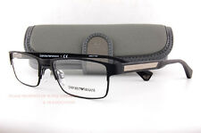 Brand New EMPORIO ARMANI Eyeglass Frames 1035 3094  Black Rubber for Men Size 53