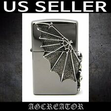 New Japan Korea zippo lighter Gargoyle 2 black ice SI emblem US SELLER