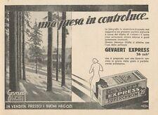 Z1027 Pellicola GEVAERT Express - Paesaggio - Pubblicità - 1934 Old advertising