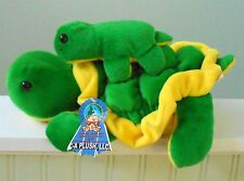 MAMA & BABY TURTLE Plush Stuffed Animal Green Yellow NWT 13""
