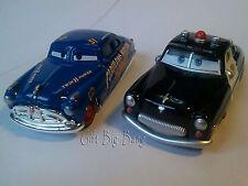 2PCS Mattel Disney Pixar Cars Sheriff & Fabulous Hudson Hornet 1:55 New in Stock