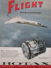 3/1965 PUB ROTAX SOLID ROTOR ALTERNATOR BAC TSR2 ORIGINAL COVER AD