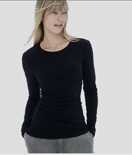 New $135 JAMES PERSE CREW NECK TUCKED SKINNY LONG SLEEVE SIZE 3 Black WRP3192