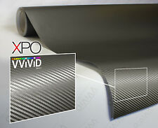 Gunmetal Grey carbon fiber 5ft x 5ft car wrap vinyl VViViD XPO cast sheet