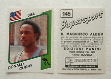 Donald Curry Figurine Supersport Panini 1986 con velina Mint Sticker #145