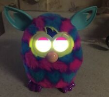2012 Hasbro Furby Boom Blue Pink Electronic Toy Spooky Lighted Eyes Ears Move