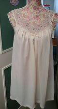 VINTAGE LADIES KEYNOTE CREAM BABYDOLL NIGHTDRESS 60s SIZE 12 GREAT CONDITION