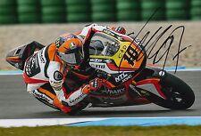 Luca Marini Hand Signed 12x8 Photo Forward Racing Kalex Moto2 2016 MOTOGP 10.
