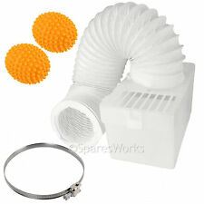 1M Wall Mountable Condenser Box Hose Clip & Balls for BAUKNECHT Tumble Dryer