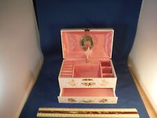 Vintage Spinning Ballerina Jewerly Music Box
