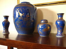 Qing Dynasty Monochrome Blue Jars and Vases