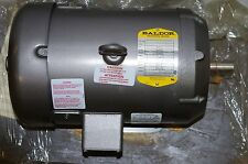 BALDOR 1HP FIELD WOUND DC MOTOR # CD6219  90VDC 10AMPS 1750RPM FRAME 184C