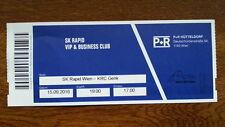 Ticket RAPID WIEN VIENNA - KRC GENK Europa League 16/17 Austria Belgium België