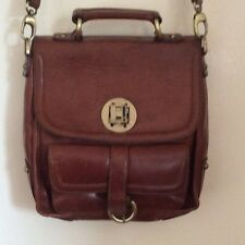 Genuine Leather Vintage Satchel bag Henry Holland. Brown