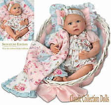 Ashton Drake GABBY ROSE-SIGNATURE EDITION-LIFELIKE BABY DOLL WITH BASSINETTE-NEW