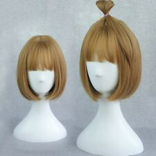 Womens Lady Short Straight Bob Full Hair Wig Cosplay Party Neat Bang Hair