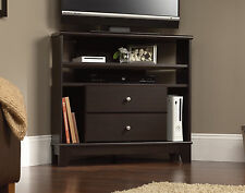 Sauder Furniture Camarin Collection Jamocha Wood Corner Console TV Stand 414707