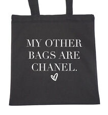 Tote Natural Cotton Fashion Shopper Bag Gym Shopping Beach My Other Bags Are