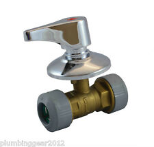 2 x Hep2O 22mm in-wall concealed brass stopcock / tap . Full bore valve Hep20
