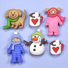 DRESS IT UP Buttons Fun In The Snow 8312 Embellishments Snowman Dog Doll