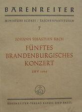 J. s. bach: cinquième Brandenburgisches. concert, poches partition, Gebr.