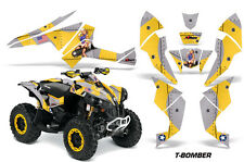 CanAm Renegade500/800/1000 AMR Racing Graphic Kit Wrap Quad Decal ATV TBOMB YLLW