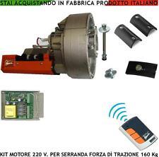 Motore Elettrico 220 V Serranda 160 Kg. 16 mt² Automatismo Centrale Radioc R.Cod