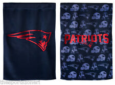 "New England Patriots 2- Sided 29"" x 43"" Suede Glitter Flag"