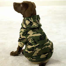 SMALL GREEN CAMO HOODIE Dog Sweatshirt Sweater FLEECE LINED Dog Coat USA