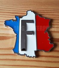 Chrome Metal Tricolore France Badge Emblem Sticker for Car Van Quad Camper