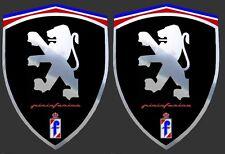 2 adhésifs stickers noir & chrome PEUGEOT  (à coller sur les ailes avant)
