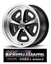 15X8 5-4.50 AMERICAN RACING MAGNUM 500 VN501 GLOSS BLACK MACHINED  FORD,HOT-ROD