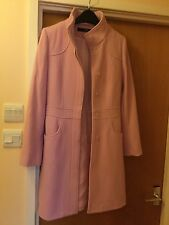 Jane Norman Ladies Coat Size 8 Baby Pink 80% Wool Beautiful