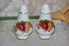 Cottage rose English Fine Bone China salt and pepper (Gold Rim) By Milton China