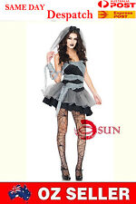 New Princess Fancy Sexy Mini Dress Up Vampire Dark Bride Costumes Size 6-12
