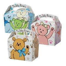 20 Childrens Teddy Bear Food Boxes ~ Picnic Carry Meal Box ~ Birthday Party Bag