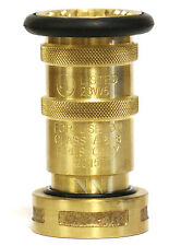 "NNI 1-1/2"" NST (NH) Fire Hose Brass Bronze Fog Nozzle UL Listed Fire Protection"