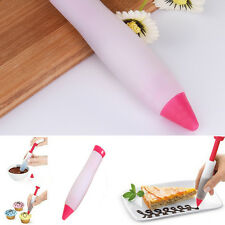 Silicone Chocolate Icing Cream Sauce Pastry Decorating Syringe Pen Kitchen Tool