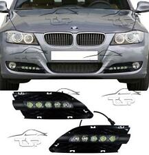 FRONT RUNNING LED LIGHTS BLACK FOR BMW E90 E91 LCI 08-12 FOG GRILL DAYLIGHT
