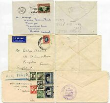 SOUTHERN RHODESIA 9 stamps on 3 ENVELOPES 1932-51...2d + 10d + 3s 9d