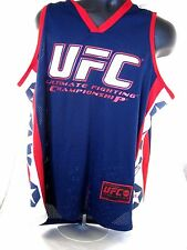 UFC Ultimate Fighting MMA L Large mens jersey shirt red white blue sleeveless