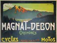 Metal Sign Magnat Debon Cycles Motos Grenoble Farcy A4 12X8 Aluminium