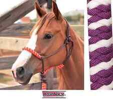 Classic Equine Rope Halter Purple White Horse Tack