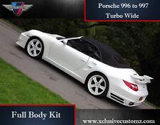 Porsche 911 996 a 997 Turbo de ancho de cuerpo completo kit de conversión