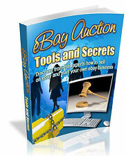 "EARN MONEY - LEARN HOW ITS DONE -  ""EBAY AUCTION TOOLS AND SECRETS!""- (PDF CD)"